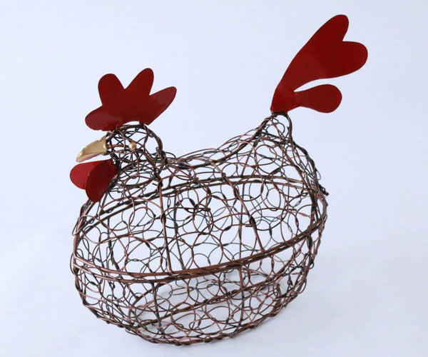 Chicken basket with lid (Black copper)