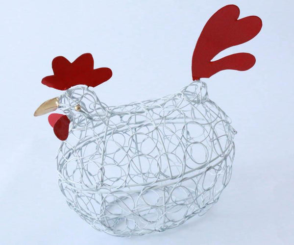 Chicken basket with lid (White)