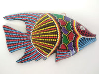 Wooden fish dot painted