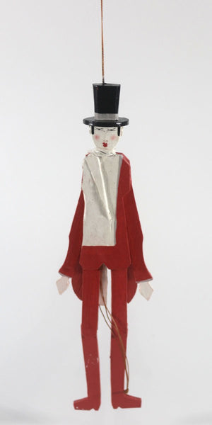 Man top hat Red