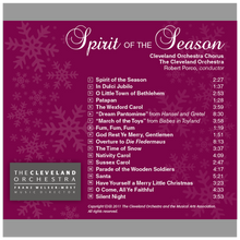 Load image into Gallery viewer, Spirit of the Season CD - Gift with Chorus Fund Donation