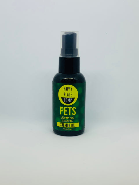 Happy Place Hemp Pets 500mg Salmon Oil Spray - Beyond Full Spectrum