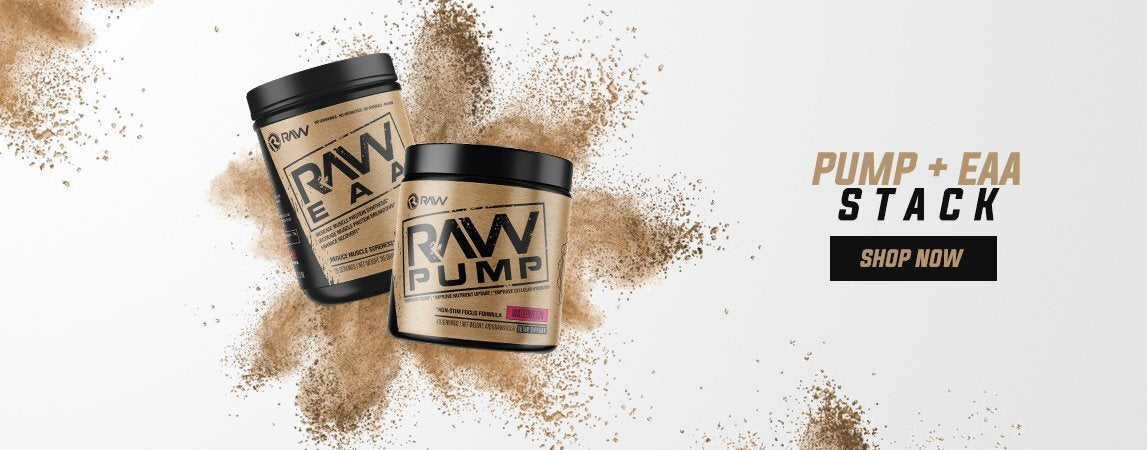 raw nutrition pump eaa stack banner