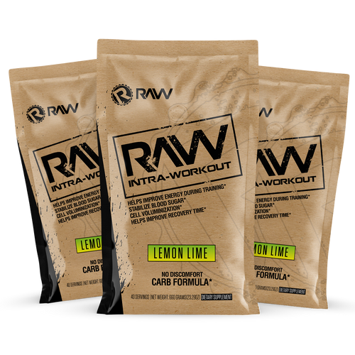 raw intra workout supplements 3pack sampler kit lemon lime
