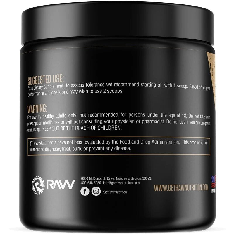 raw nutrition pump supplement use