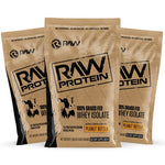 raw protein sample 3pack peanut butter