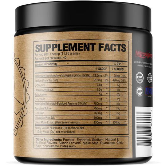 raw pump supplement facts