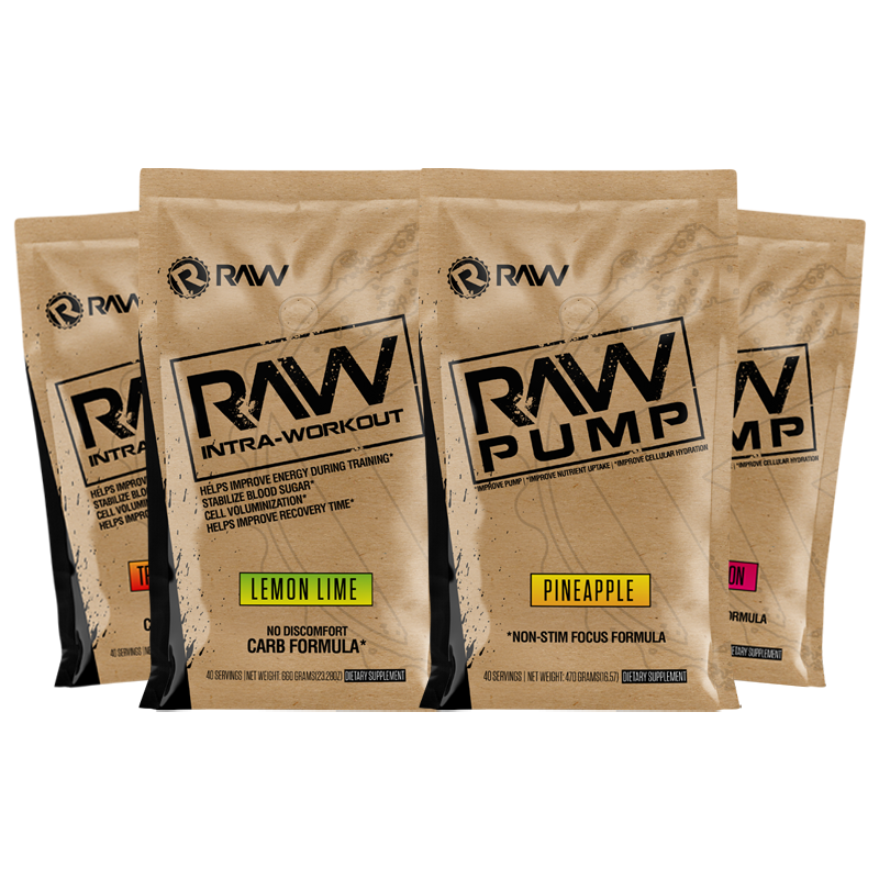 raw ultimate pump supplement 4pack stack