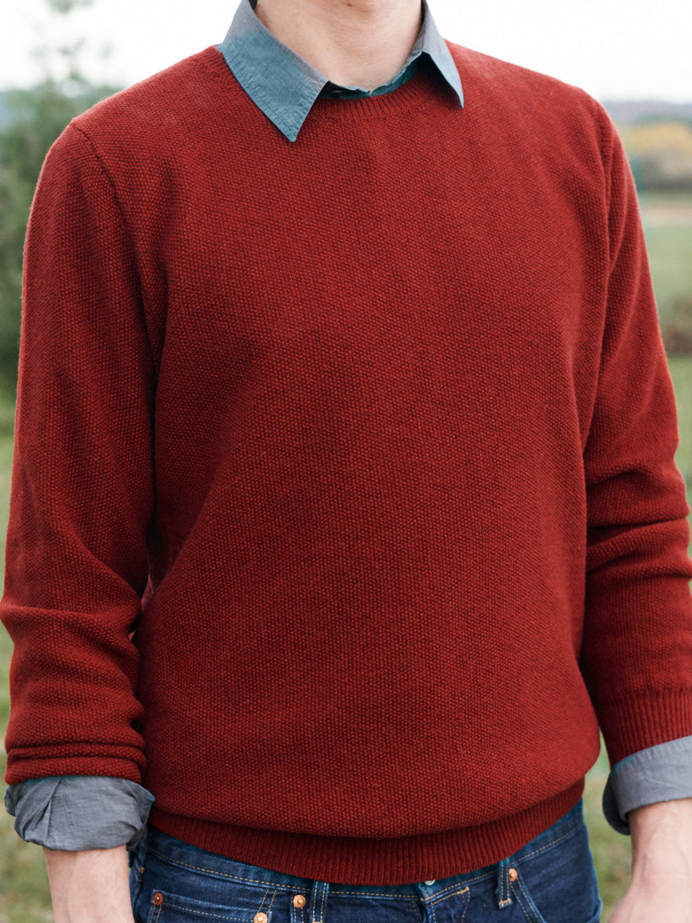 LARRY / MERINO WOOL / RUSTY RED