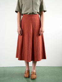 RUTH / PANEL SKIRT / RUST