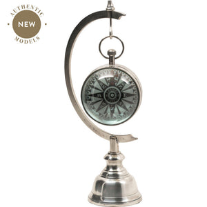 Stand Library Clock, Silver – GL000S (4616656388195)