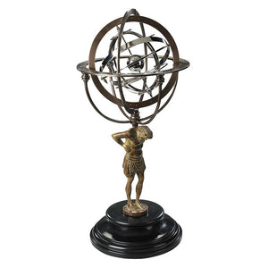 18th C. Atlas Armillary – GL051 (4613481529443)