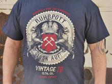 Laden Sie das Bild in den Galerie-Viewer, T-Shirt Ruhrpott Vintage Rock, unisex, navy