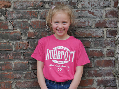 T-Shirt Ruhrpott Oval Puff jr., Kids, fuchsia