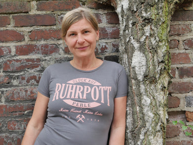 T-Shirt Ruhrpott Oval Puff, Ladies, grau