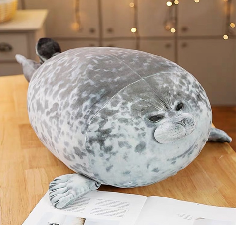 3D lifelike cute soft seal plushie