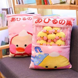 cute mini duck plushie snack in pudding bag