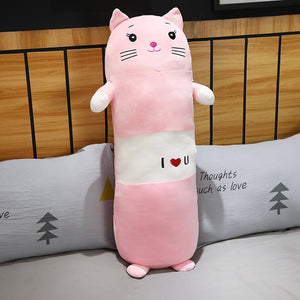 Cute pink cat plushie