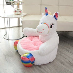cute unicorn plushie couch