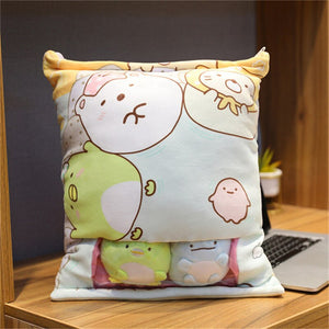 cute mini sumikko gurashi plushie snack in pudding bag