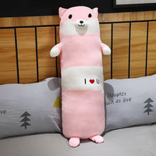 Load image into Gallery viewer, Cute pink dog plushie bolster