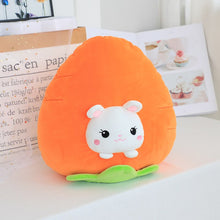 Load image into Gallery viewer, rabbit in carrot plushie