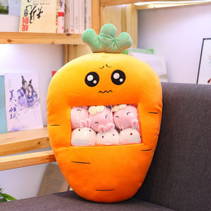 cute mini carrot plushie snack in pudding bag
