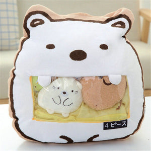 cute mini bear plushie snack in pudding bag
