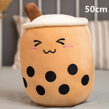 Load image into Gallery viewer, brown bubble milk tea with boba plushie