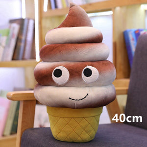 chocolate ice-cream plushie