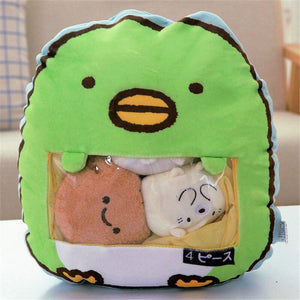 cute mini animal plushie snack in pudding bag