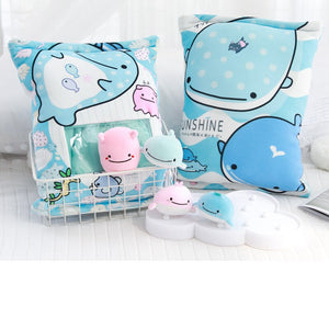 cute mini whale plushie snack in pudding bag