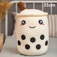 Load image into Gallery viewer, white bubble milk tea with boba plushie