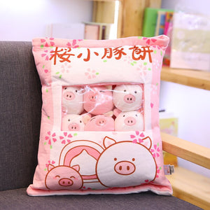 cute mini pig plushie snack in pudding bag