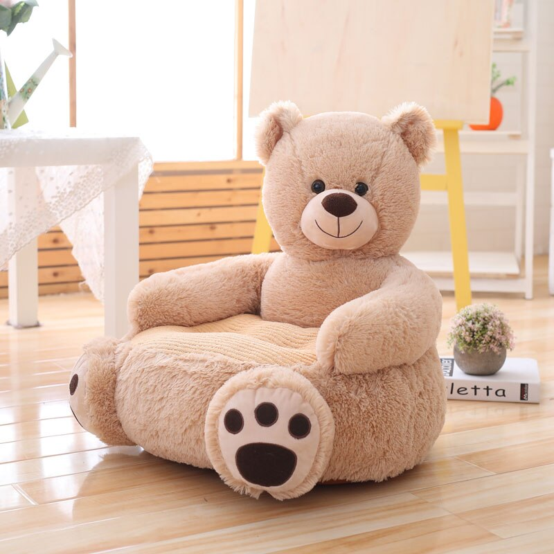 khaki bear plushie chair