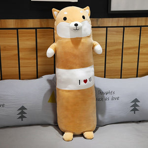 Is this brown corgi bolster plushie cute enough for you to bring them home?
