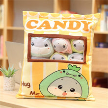 Load image into Gallery viewer, cute mini rabbit plushie snack in pudding bag