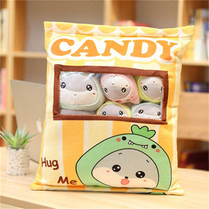 cute mini rabbit plushie snack in pudding bag
