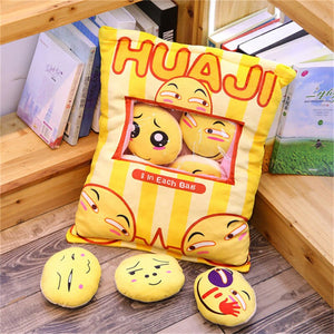 cute mini emoji plushie snack in pudding bag