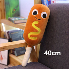 Load image into Gallery viewer, sausage on a stick plushie