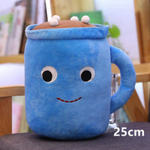 Load image into Gallery viewer, hot chocolate drink plushie with marshmallows