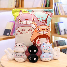 Load image into Gallery viewer, cute mini totoro plushie snack in pudding bag
