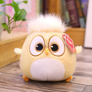 yellow hairy chicken plush animal toy