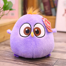 Load image into Gallery viewer, purple chicken stuffed animal with orange hair