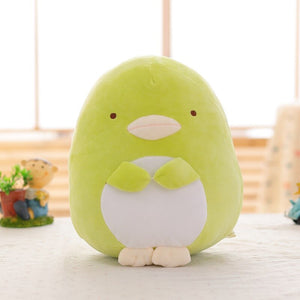 Green penguin stuffed toy plushie