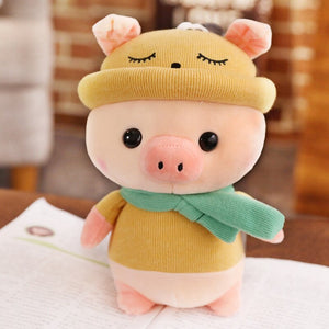yellow cute pig plushie
