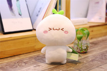 Load image into Gallery viewer, cute plushie with laughing face and small eyes