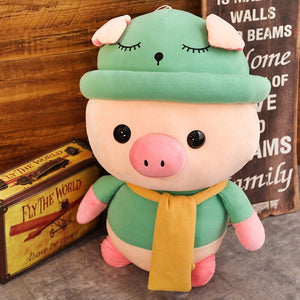 green cute pig plushie