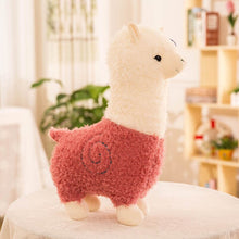 Load image into Gallery viewer, cute llama alpaca sheep stuffed animals plush toys for kids pink red purple green brown white gift valentine love
