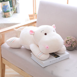 cute white plush toy adorable hippopotamus